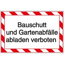 Vorlage: Bauschutt und Gartenabfälle abladen verboten