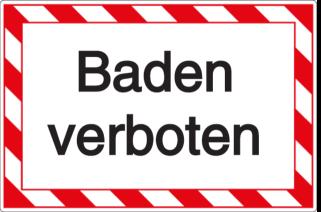 Vorlage: Baden verboten