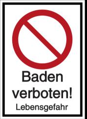 Vorlage: Baden verboten! Lebensgefahr