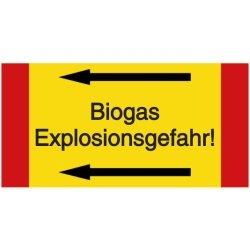 Vorlage: Rohrkennzeichnung: Biogas - Explosionsgefahr!