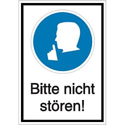 Vorlage: Folien-Kombi-Schild - Bitte nicht stören