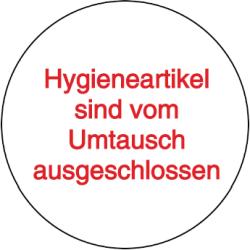 Vorlage: Hygieneartikel sind vom Umtausch ausgeschlossen
