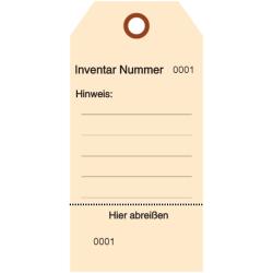 Inventar Nummer