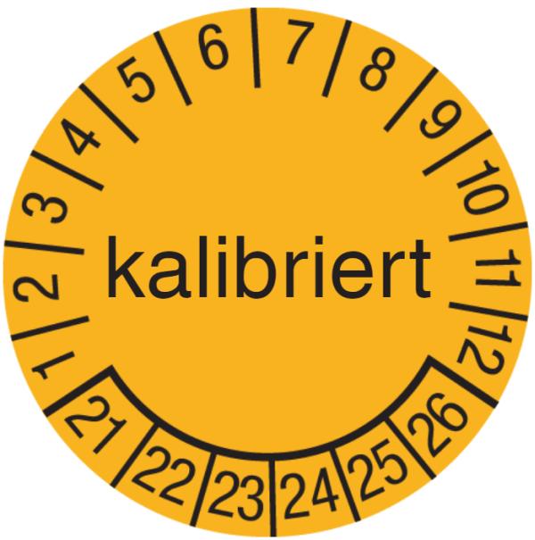 kalibriert