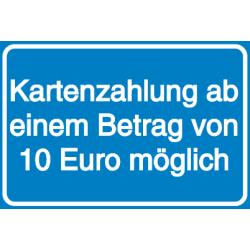 Vorlage: Kartenzahlung ab einem Betrag von 10 Euro möglich