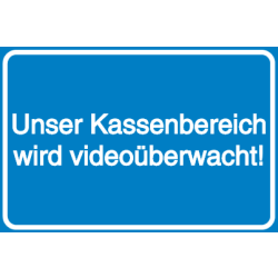 Vorlage: Unser Kassenbereich ist videoüberwacht!