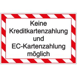Vorlage: Keine Kreditkartenzahlung und EC-Kartenzahlung möglich