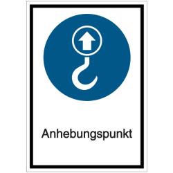 Vorlage: Kombi-Schild Anhebungspunkt