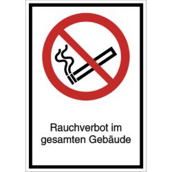 Vorlage: Kombi-Schild Rauchverbot im gesamten Gebäude