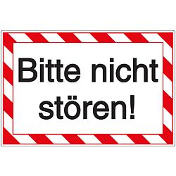 Vorlage: Kunststoffschild - Bitte nicht stören