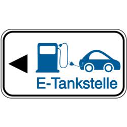 Vorlage: Nach links - E-Tankstelle