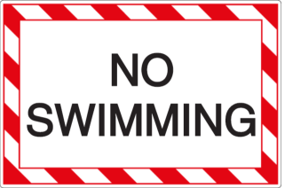Vorlage: NO SWIMMING