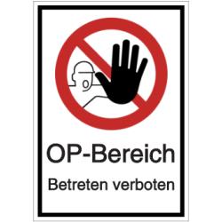 Vorlage: OP-Bereich - Betreten verboten