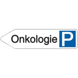 Vorlage: Parkplatz-Wegweiser - Onkologie
