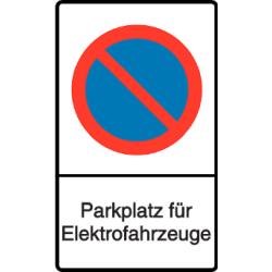 Vorlage: Parkverbot - Parkplatz für Elektrofahrzeuge
