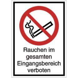 Vorlage: Rauchen im gesamten Eingangsbereich verboten