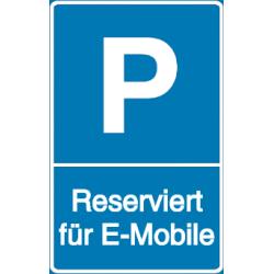 Vorlage: Parkplatz - Reserviert für E-Mobile