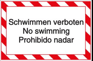 Vorlage: Schwimmen verboten-No swimming-Prohibido nadar