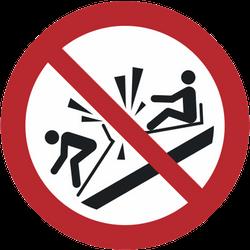 Vorlage: Symbol Andere Schlitten rammen verboten