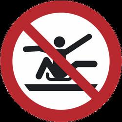 Vorlage: Symbol Aus dem Schlitten lehnen verboten