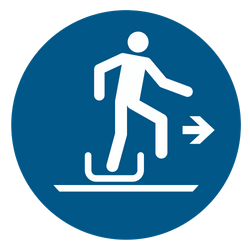 Vorlage: Symbol Ausstieg vom Schlitten rechts benutzen