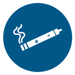Vorlage: Symbol E-Zigarette erlaubt