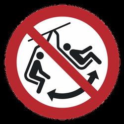 Vorlage: Symbol Schaukeln im Sessel verboten!