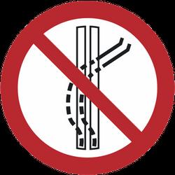 Vorlage: Symbol Schleppspur verlassen verboten!