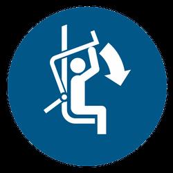Vorlage: Symbol Sicherheitsbügel des Sessellifts schließen