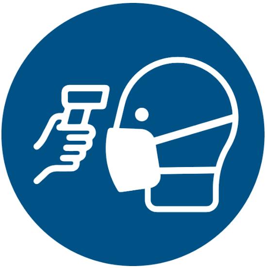 Vorlage: Symbol Temperatur messen / Fieber messen