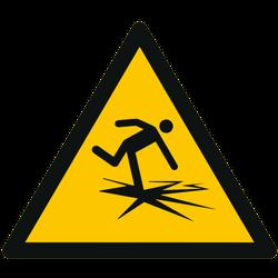 Vorlage: Symbol Warnung vor dünnem Eis