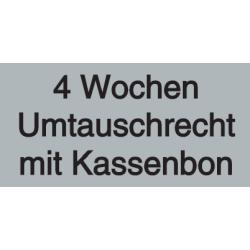 Vorlage: 4 Wochen Umtauschrecht mit Kassenbon