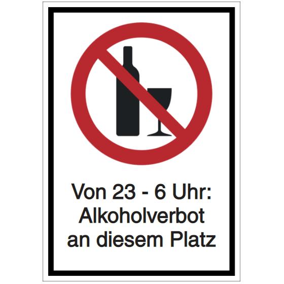 Vorlage: Von 23 - 6 Uhr-  Alkoholverbot an diesem Platz