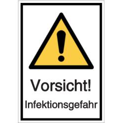 Vorlage: Vorsicht! - Infektionsgefahr
