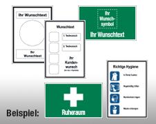 Individuelle Erste-Hilfe-Schilder/-Aushänge