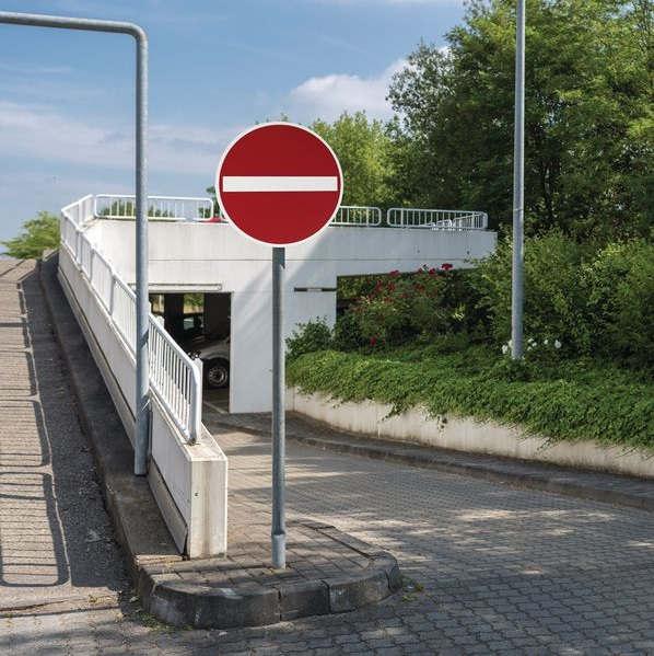 Einfahrt verboten Schild