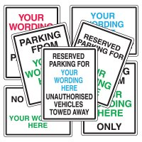 Custom Signs - Personalised Parking Signs - Reserved Parking For ...