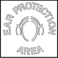 Safety Stencils - Ear Protection Area