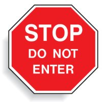 Multi Worded Stop Signs - Stop Do Not Enter