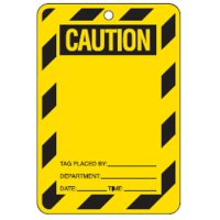 Economy Safety Tags - Caution Blank