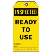 Graphic Safety Tags - Inspected Ready To Use