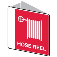 3D Fire Safety Sign - Hose Reel (with Picto) - 225x225mm POLY