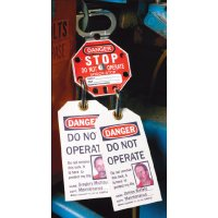Self Laminating Personal Lockout Tagout Danger Tags - Pack of 10