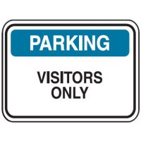 Traffic Control Signs - Visitors Only