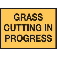 Maintenance Work Signs - Grass Cutting In Progress