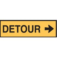 Temporary Traffic Control Signs  - Detour Arr/R