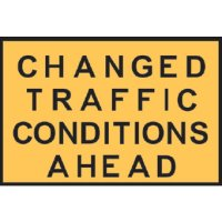 Temporary Traffic Control Signs  - Changed Traffic Conditions Ahead