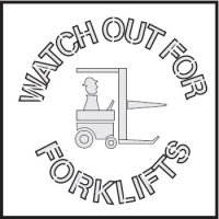Safety Stencils - Watch Out For Forklifts