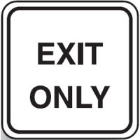 Traffic & Parking Control Signs  - Exit Only Metal