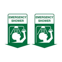 3D Emergency Information Sign - Emergency Shower (with Picto) - 250x175mm POLY